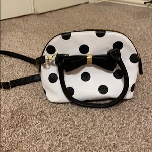 A spotted purse